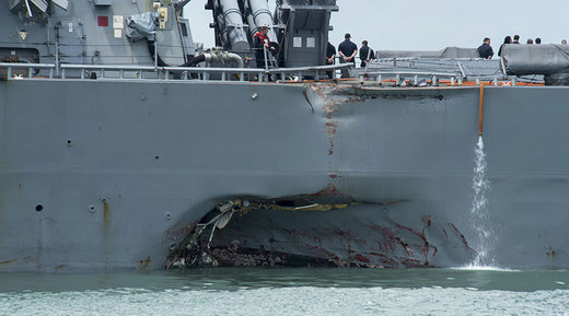 United States warship collision