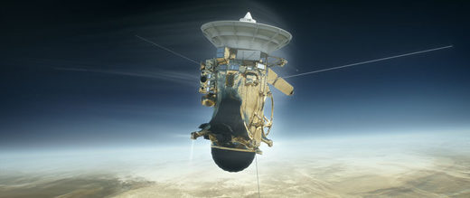 Cassini firing thrusters