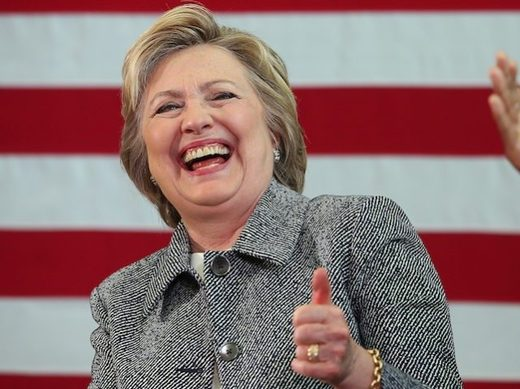 Hillary Clinton laughing