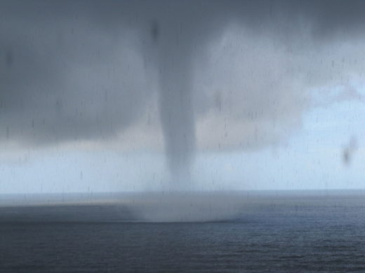 Oceanside, OR waterspout
