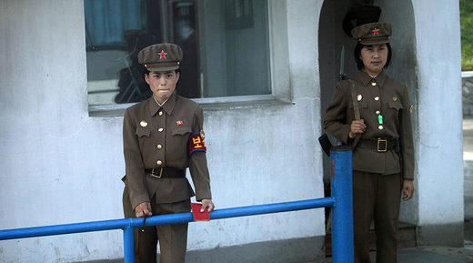 North Korea female soldiers