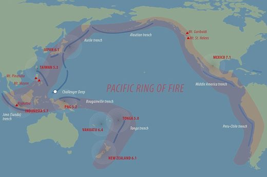 ring of fire earthquake volcanoes