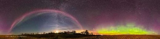 'Steve' purple arc over Alberta