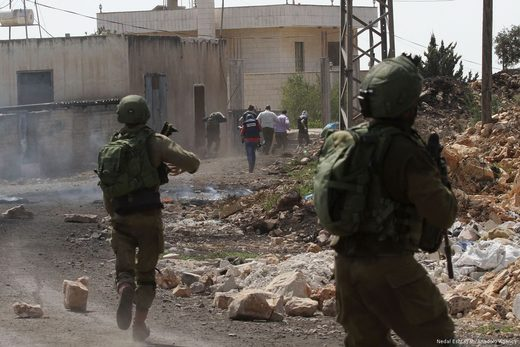 Israeli soldiers attack demonatration