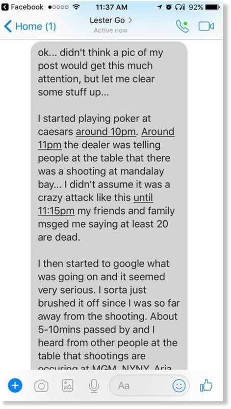 Caesars shooting text