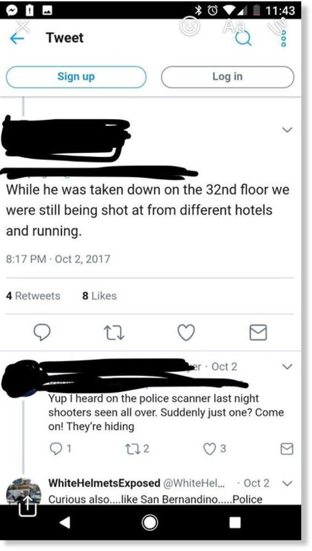 Different hotels shooting text message