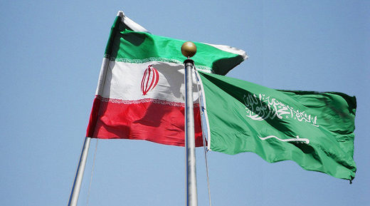 Iran Saudi Arabia flags