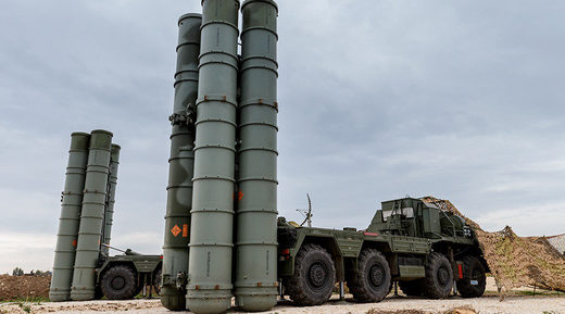 S-400 missile launchers
