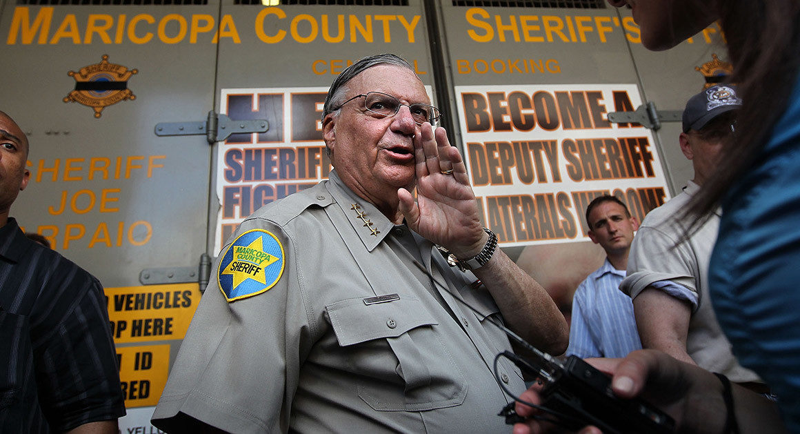 the racism of sheriff joe arpaio in his response to illegal immigration and hispanic community