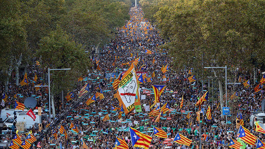 Catalonia pro-independece protest