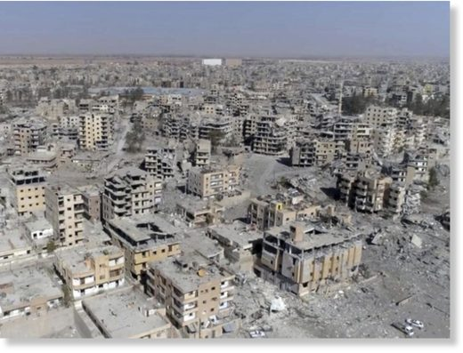 The remains of Raqqa