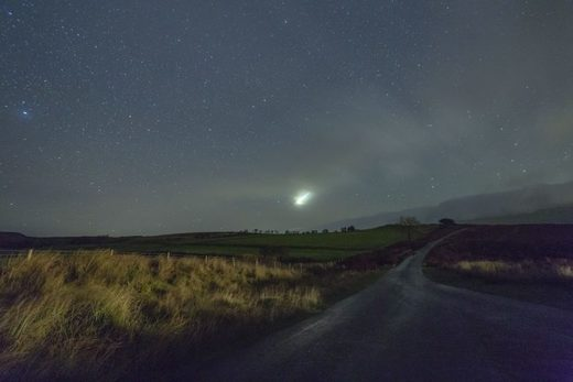 Meteor fireball over South Wales