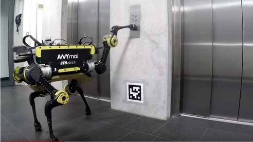 ANYmal Using an Elevator
