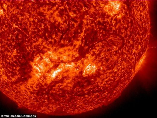 NASA spots a 7,000mph whirlpool of plasma on the surface of the sun in rare anomaly caused by its huge gravitational pull the sun
