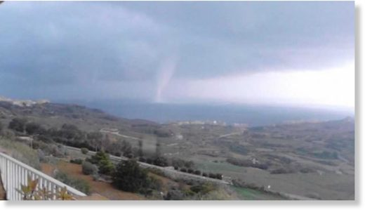 Waterspout off Gozo