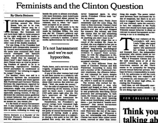 steinem clinton ny times op ed