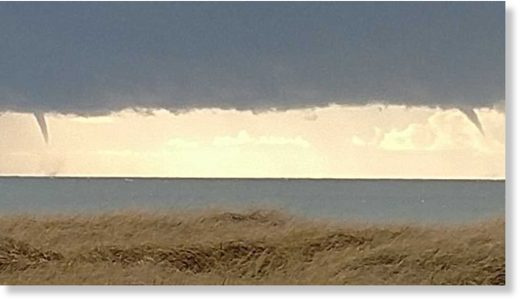 Two waterspouts were spoted off Ocean Shores on Thursday afternoon.
