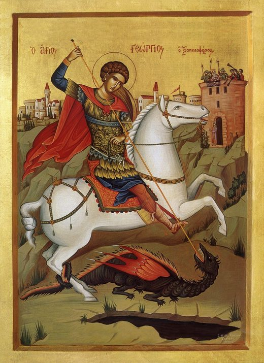 russian st george icon