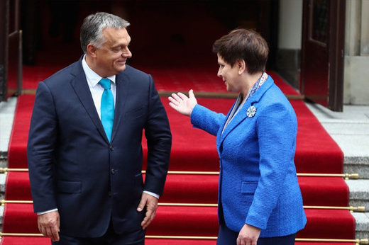 PMs of the EU's two 'ill' democracies, Orban of Hungary and Szydlo, should not have the red carpet rolled out for them