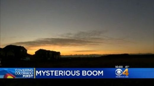 Mysterious boom in Denver
