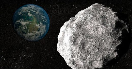 An artist's impression of a massive space rock zooming near Earth (Picture: Science Photo Library/Getty)