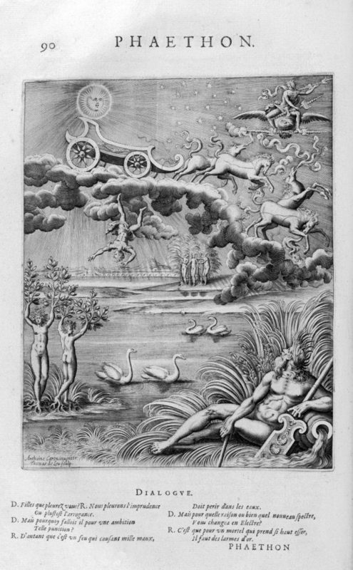 A engraving from 1615 by Leonard Gaultier telling the story of Phaethon (Photo: Universal History Archive/UIG via Getty Images)