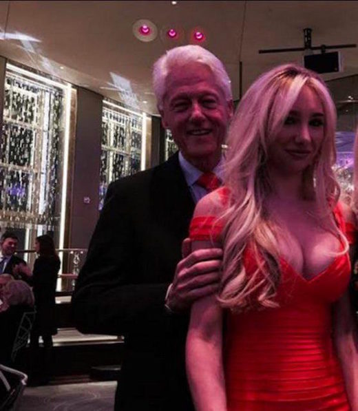 bill clinton with blonde