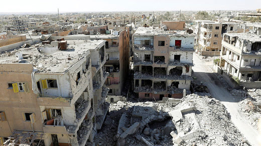 Raqqa Syria civil war destruction