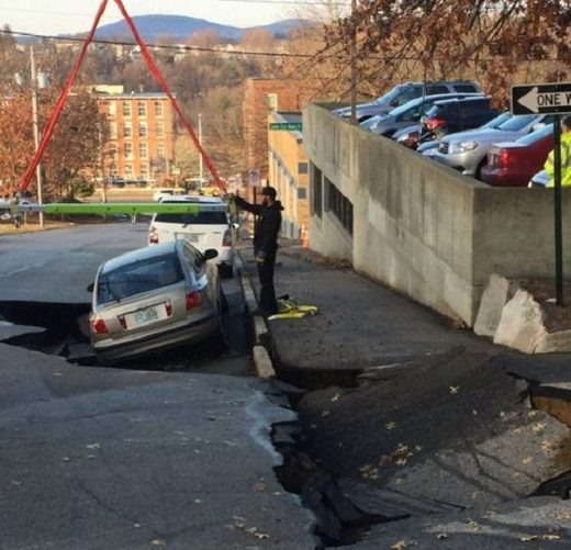 New Hampshire sinkhole