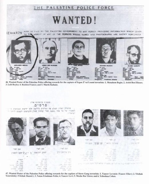 zionist terrorism wanted poster stern gang