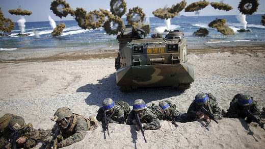 FILE PHOTO: The U.S.-South Korea joint landing operation drill in Pohang, South Korea