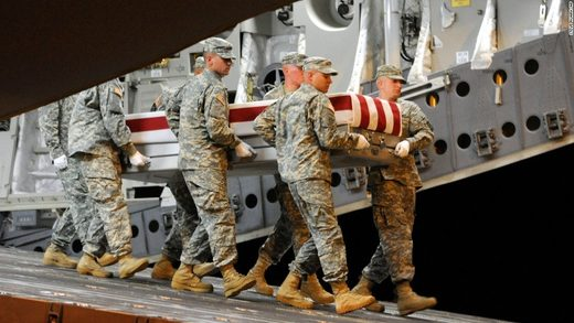 US soldiers coffin