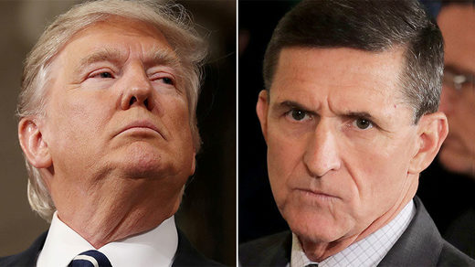 US President Donald Trump and Michael Flynn