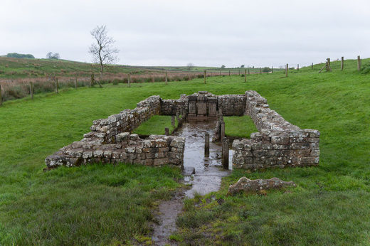 Ruins of a Mithraeum in Carrawburgh, an English settlement that once held a Roman fort along Hadrian's Wall. Jerzy Kociatkiewicz/CC BY-SA 2.0