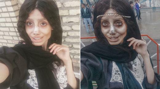 Sahar Tabar Official Instagram >> Internet slams woman who had '50 surgeries' to look like Angelina Jolie... or did she ...