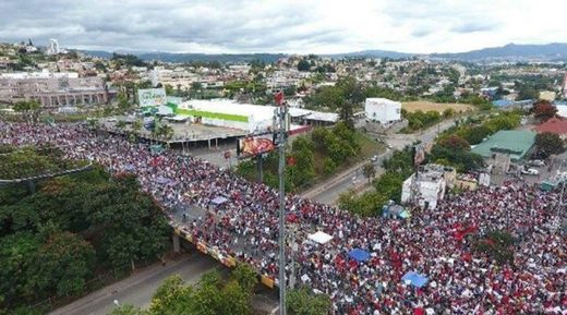 Honduras demonstration manifestación