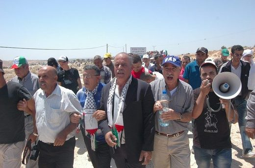 Palestinian protest Susiya village West Bank