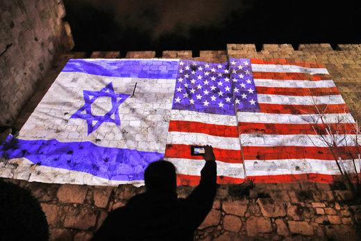 エルサレムイスラエルUS flag wall