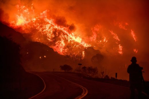Thomas fire, California