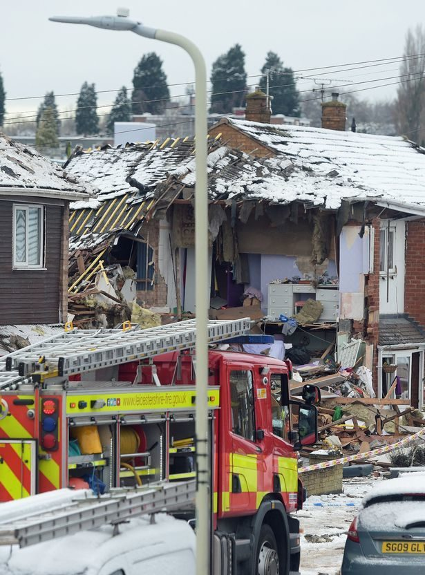 Gas Explosion Demolishes House In Leicester Uk Society