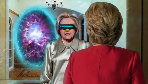 Killary Clinton gets a message from her future self