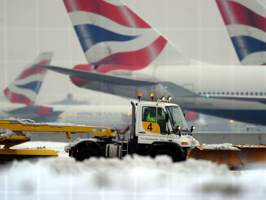 British Airways cancelled dozens of flights after disruption caused by the snow and ice