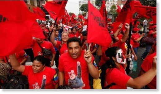 Supporters of President Nicolas Maduro