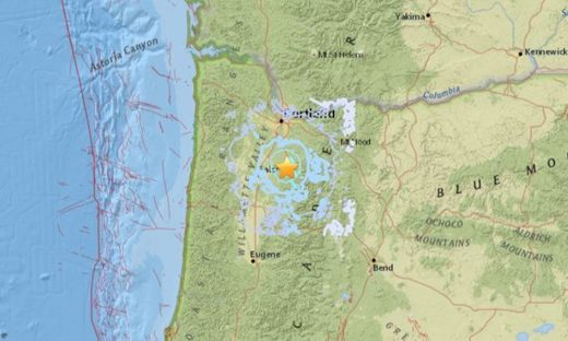 Oregon quake map