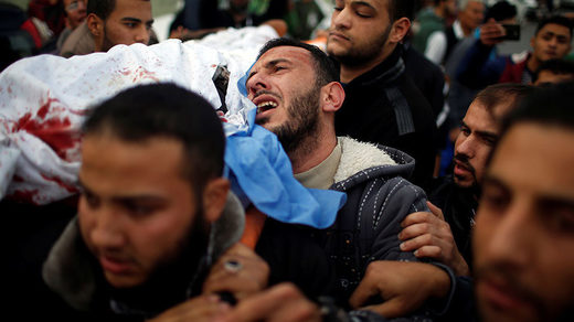 Palestinian Islamic Jihad militant during his funeral in Gaza City