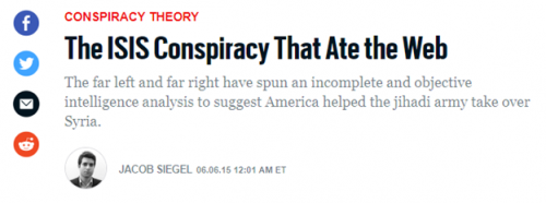 Daily Beast  ISIS conspiracy