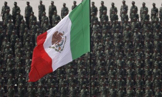Mexico flag Mexican military army soldiers bandera