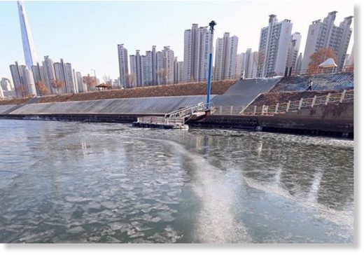 Seoul's Han River Sees Earliest Ice Formation in 71 Years