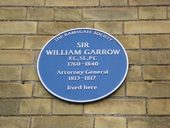William Garrow Plaque