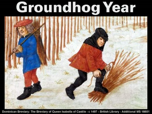 The Julian calendar and the Groundhog year